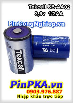 Pin Nuôi Nguồn PLC-CNC Lithium 3,6v Tekcell SB-AA02 1/2AA 1200mAh Blue